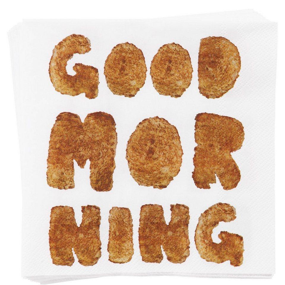 BUTLERS APRÈS »Papierserviette Good Morning« in Weiß