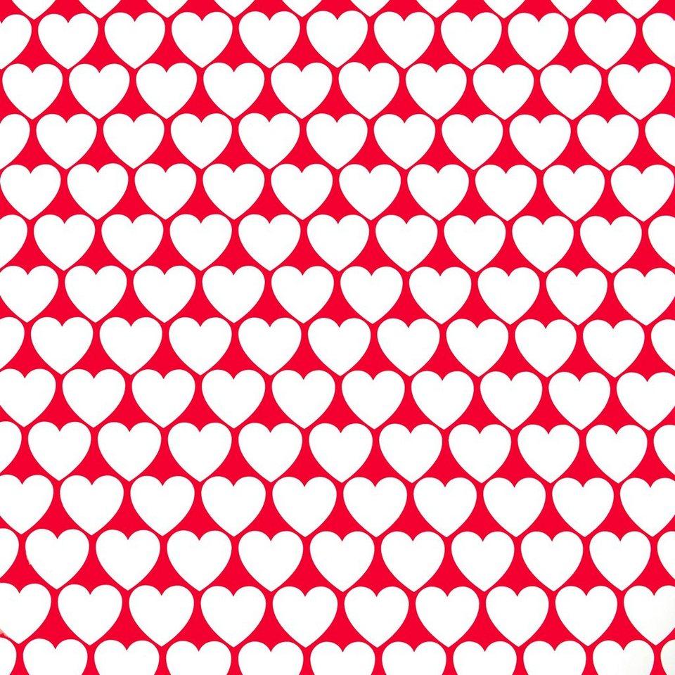 BUTLERS SURPRISE »Geschenkpapier Herzen« in rot-weiss