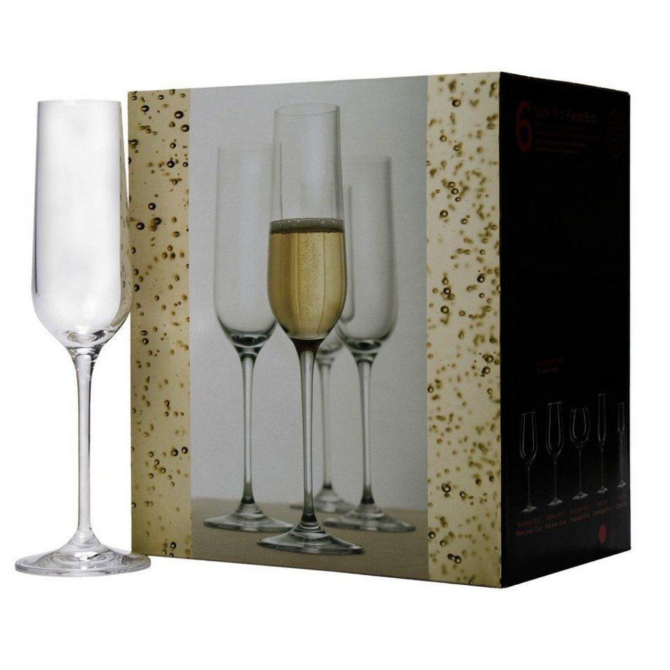 BUTLERS SANTÉ »Champagnerflöte 6er Set« in Transparent