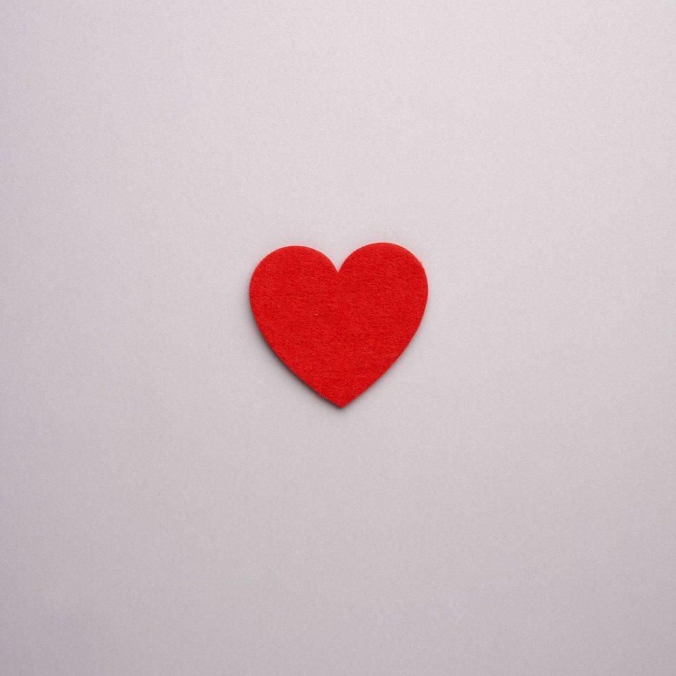 BUTLERS FELTO »Untersetzer Herz« in rot