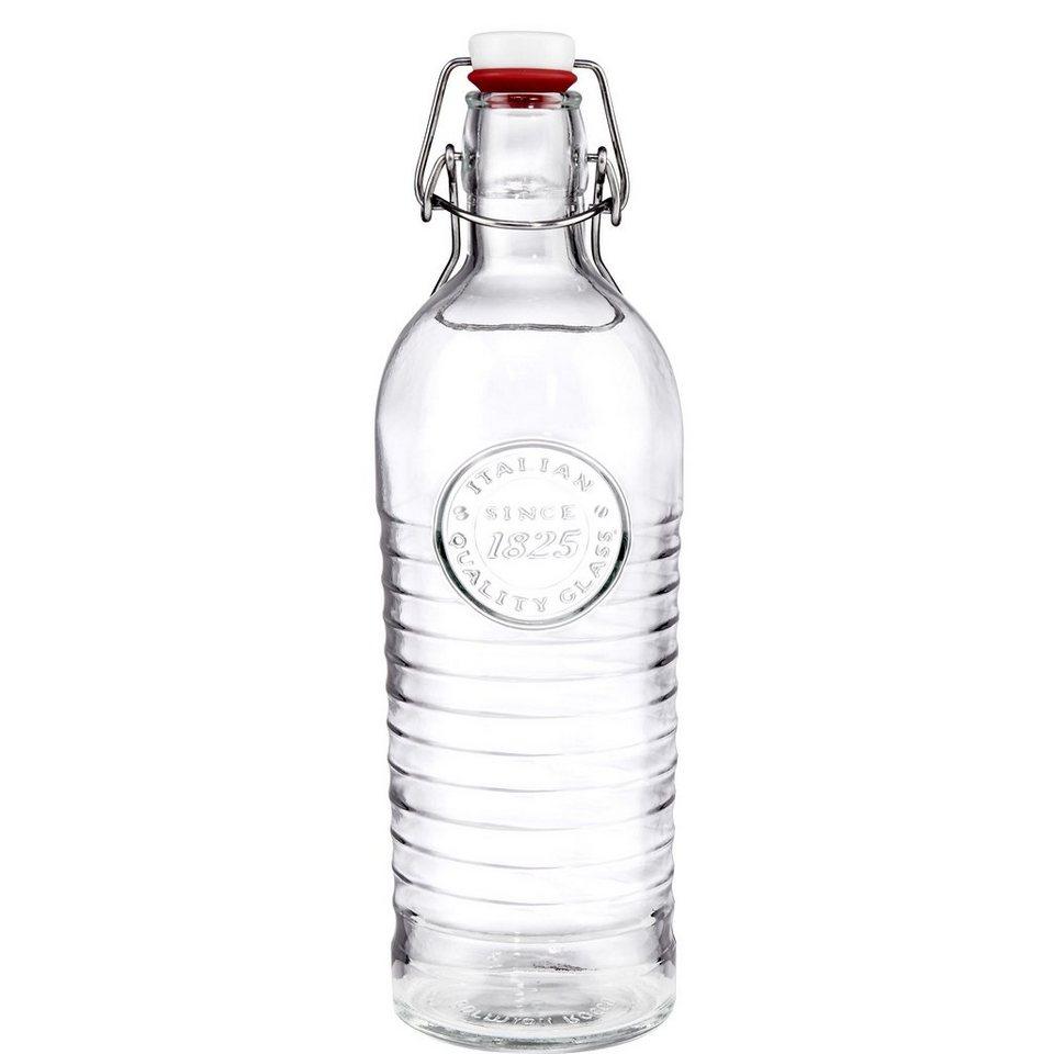 BUTLERS RIFFLE »Glasflasche mit Bügelverschluss« in Transparent