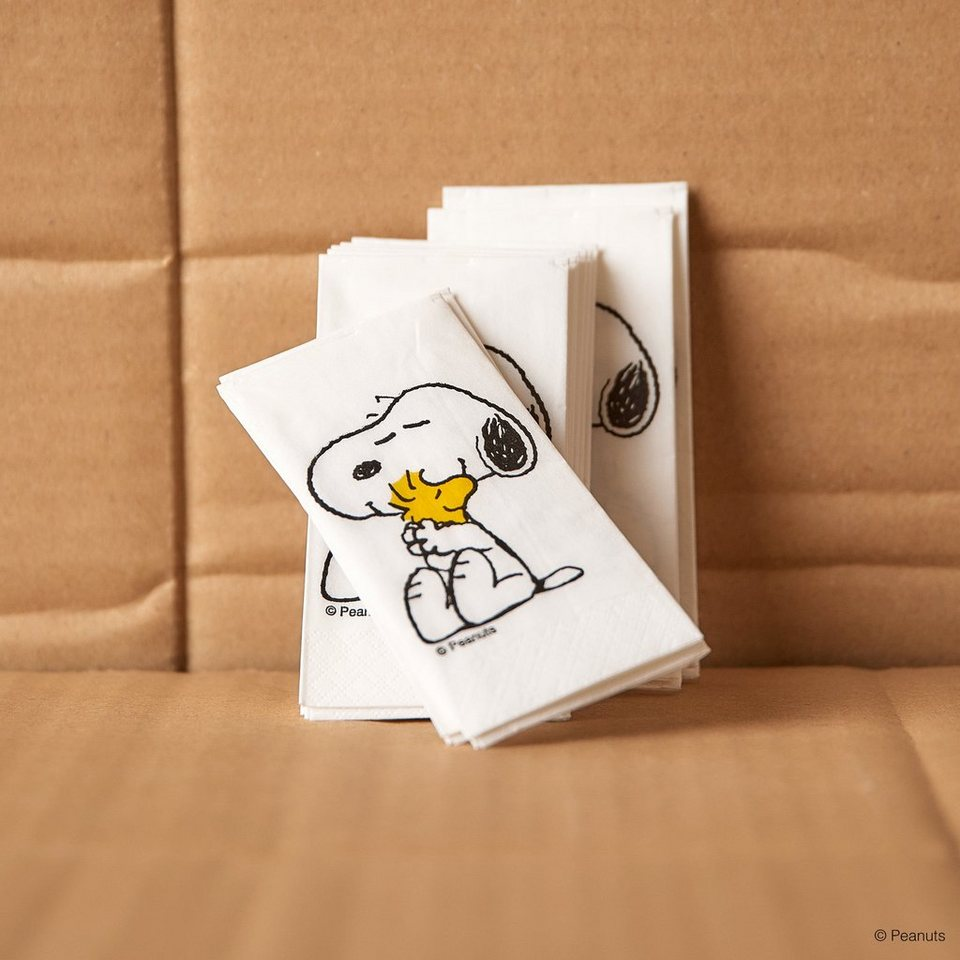 BUTLERS PEANUTS »Papiertaschentuch Snoopy & Woodstock«