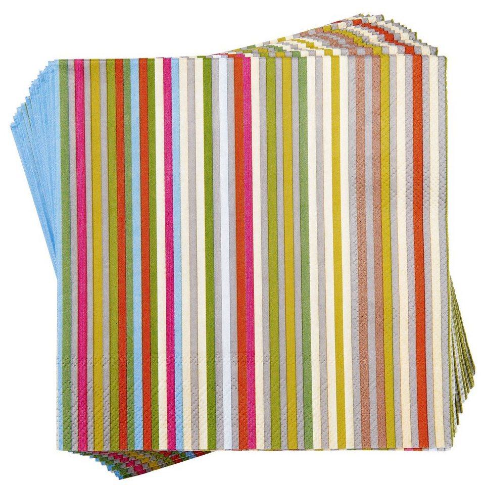 BUTLERS APRÈS »Papierserviette Streifen« in bunt