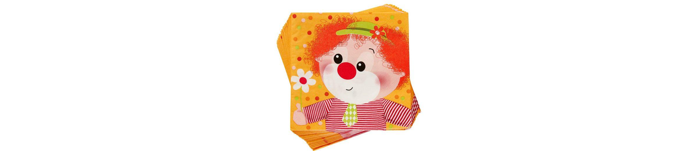 BUTLERS APRÈS »Papierserviette Clown«