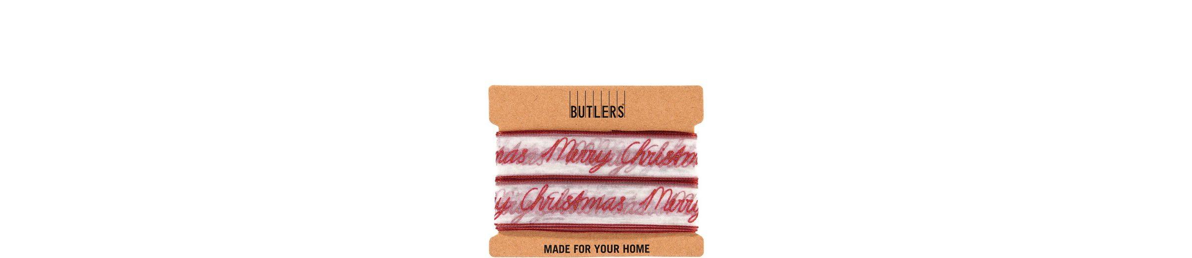 BUTLERS RIBBON »Geschenkband Merry Christmas«