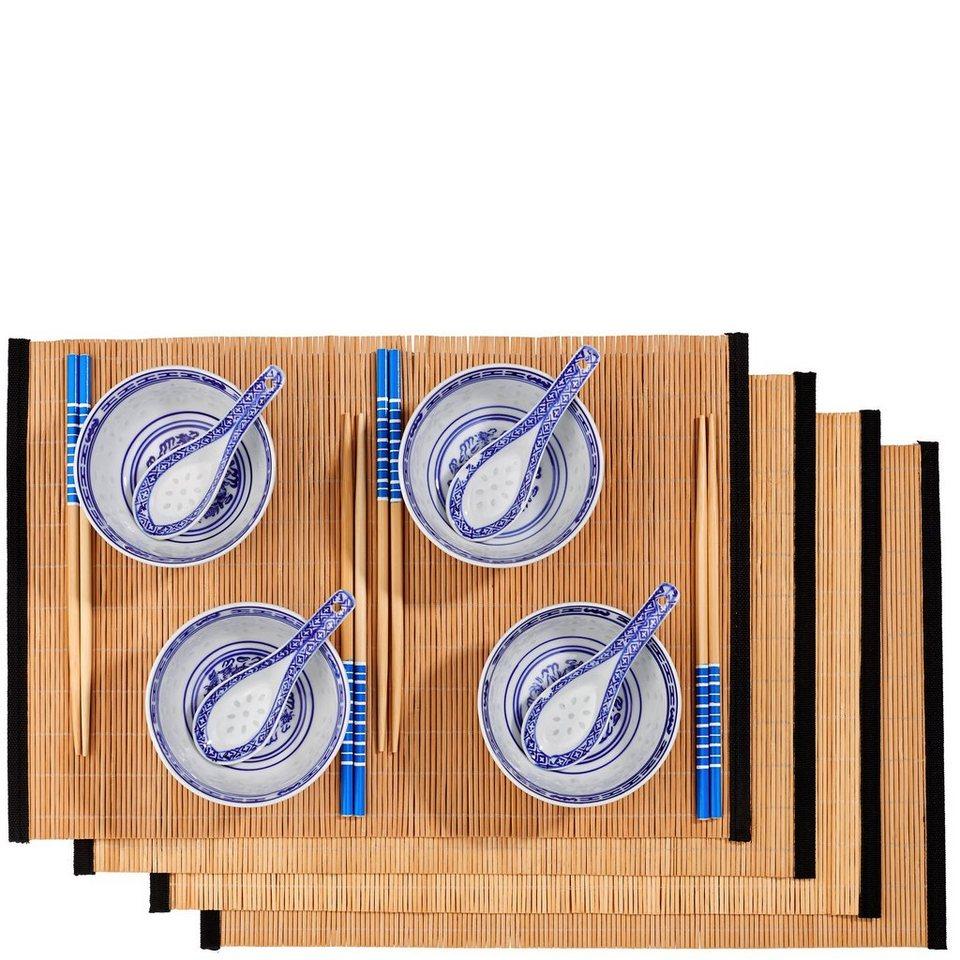 BUTLERS DRAGON »Geschenkset 16-tlg.« in blau-weiss