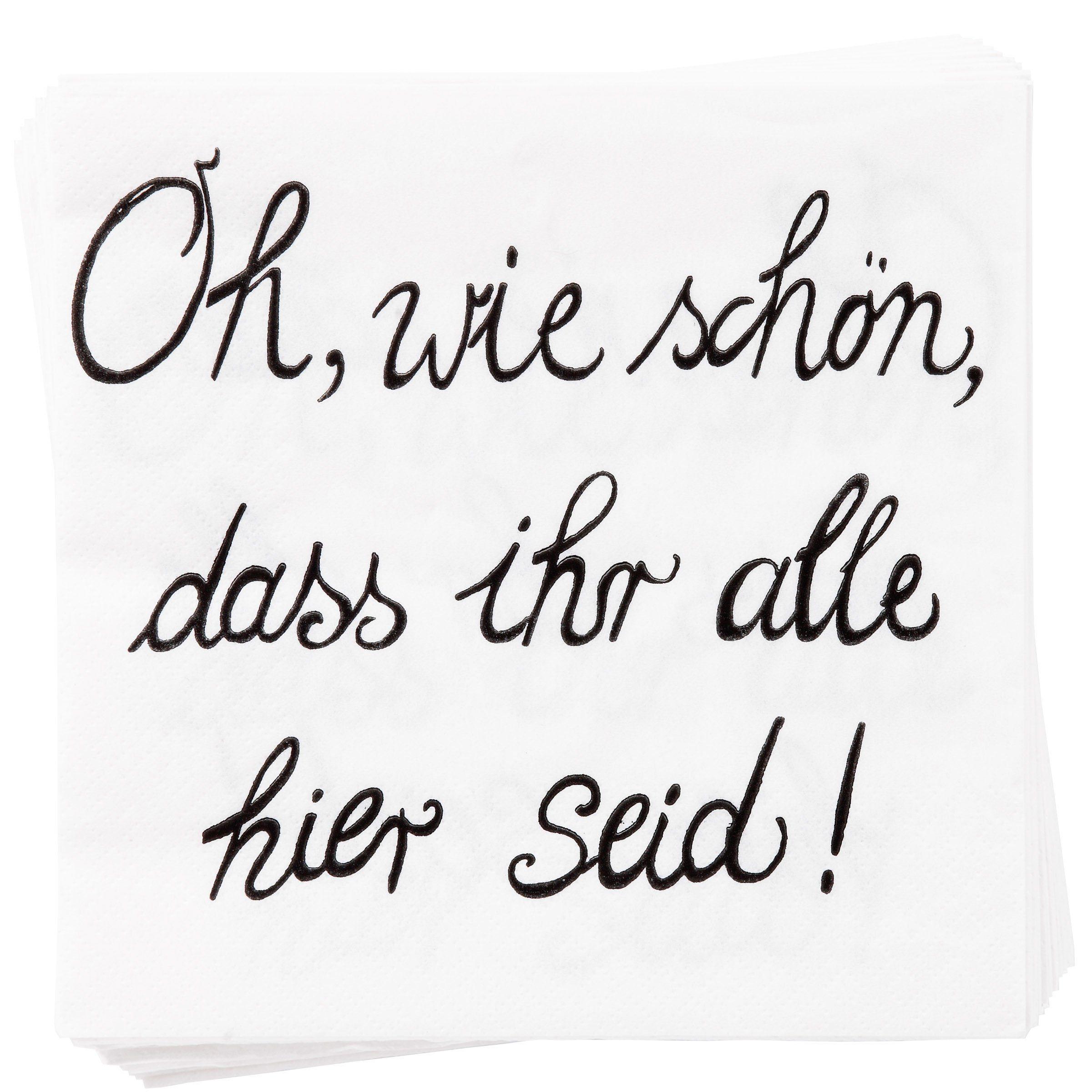 """BUTLERS APRÈS »Papierserviette """"Oh wie schön""""«"""