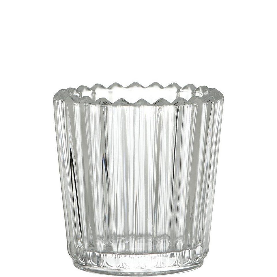 BUTLERS DELIGHT »Teelichthalter gerillt« in transparent