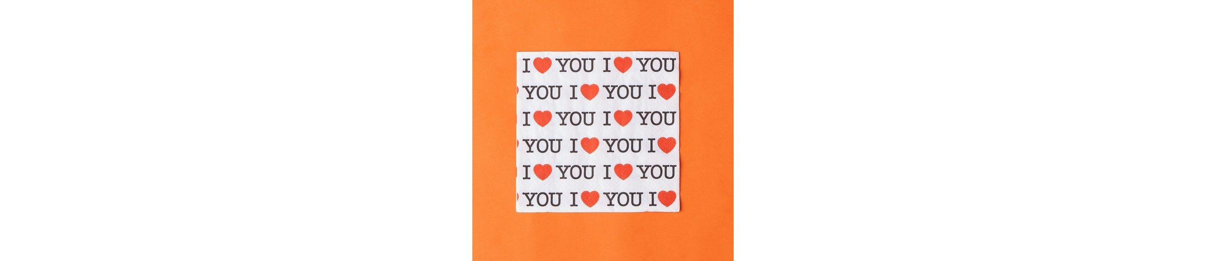 """BUTLERS APRÈS »Papierserviette """"I love you""""«"""