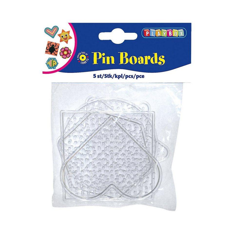 Playbox Bügelperlen Stiftplatten, 5 Stück - Formen