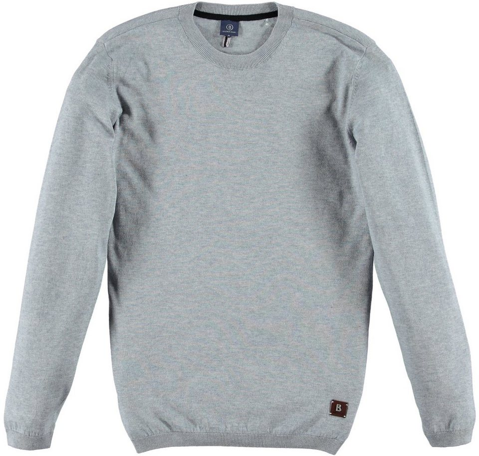 Bogner Jeans Pullover in mid grey melange