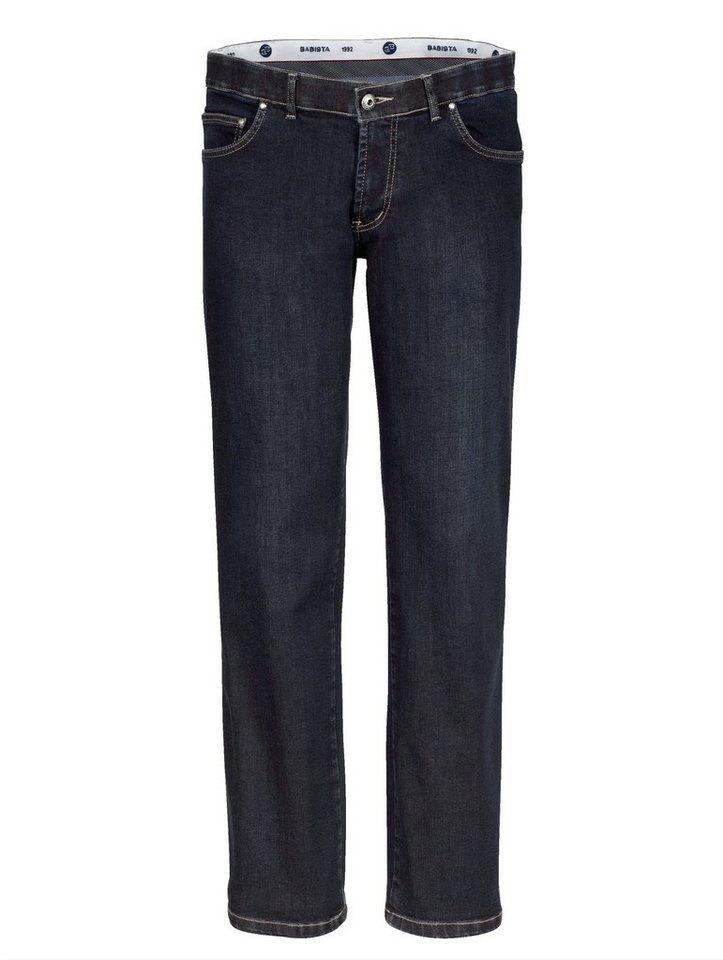 Babista Unterbauch-Jeans mit verkürzter Leibhöhe in dunkelblau