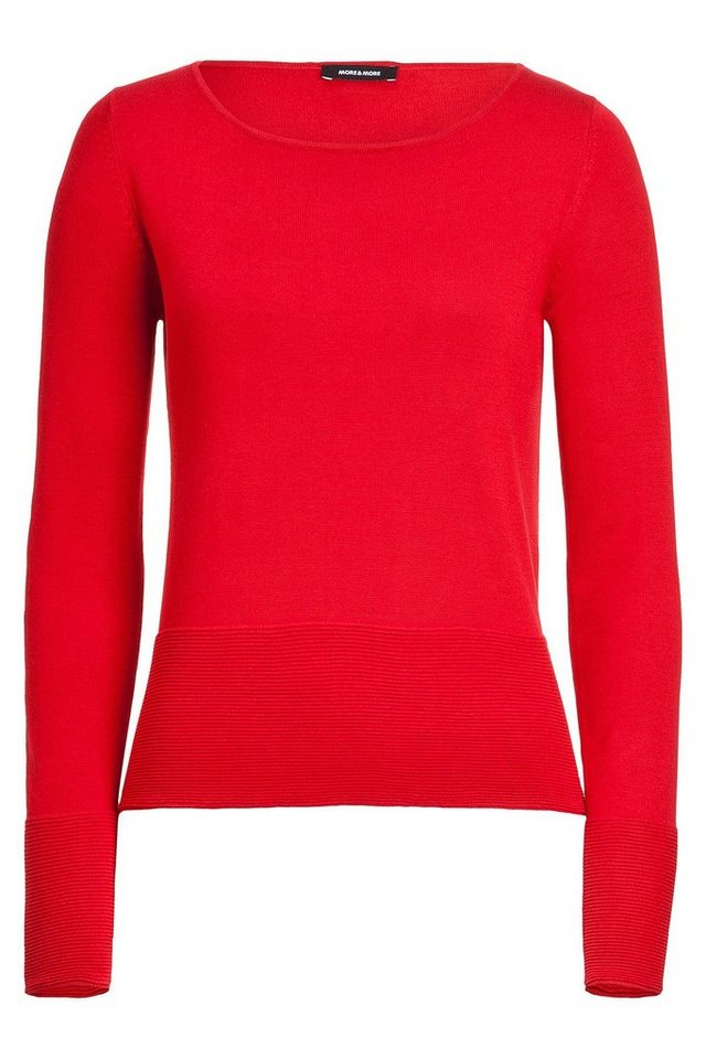 MORE&MORE Pullover, Feinstrick in rot