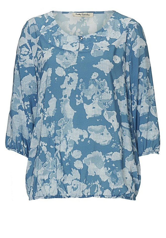 Betty Barclay Blaue Bluse in Blue/Petrol - Bunt