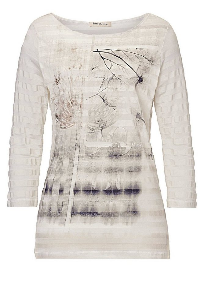 Betty Barclay Shirt in Weiß/Grau - Bunt