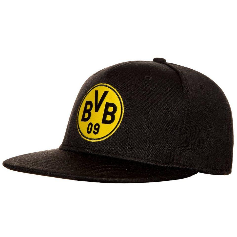 PUMA Borussia Dortmund Stretchfit Logo Cap in schwarz / gelb