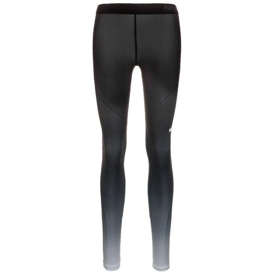 NIKE Pro Hyperwarm Trainingstight Damen in schwarz / hellgrau