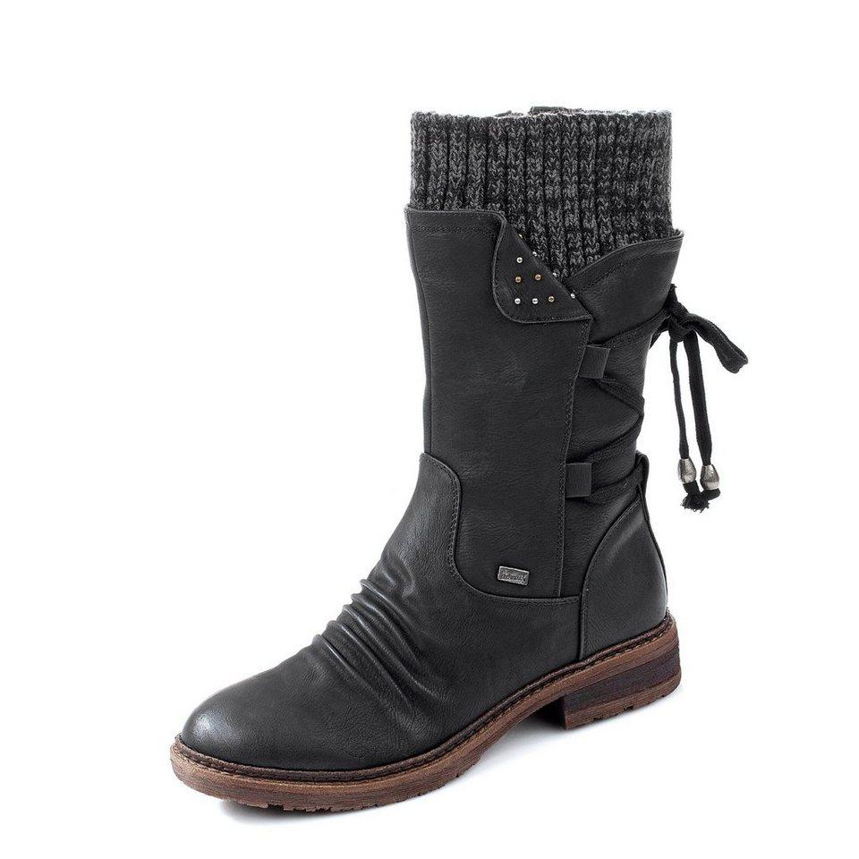 Rieker Tex-Stiefel in schwarz
