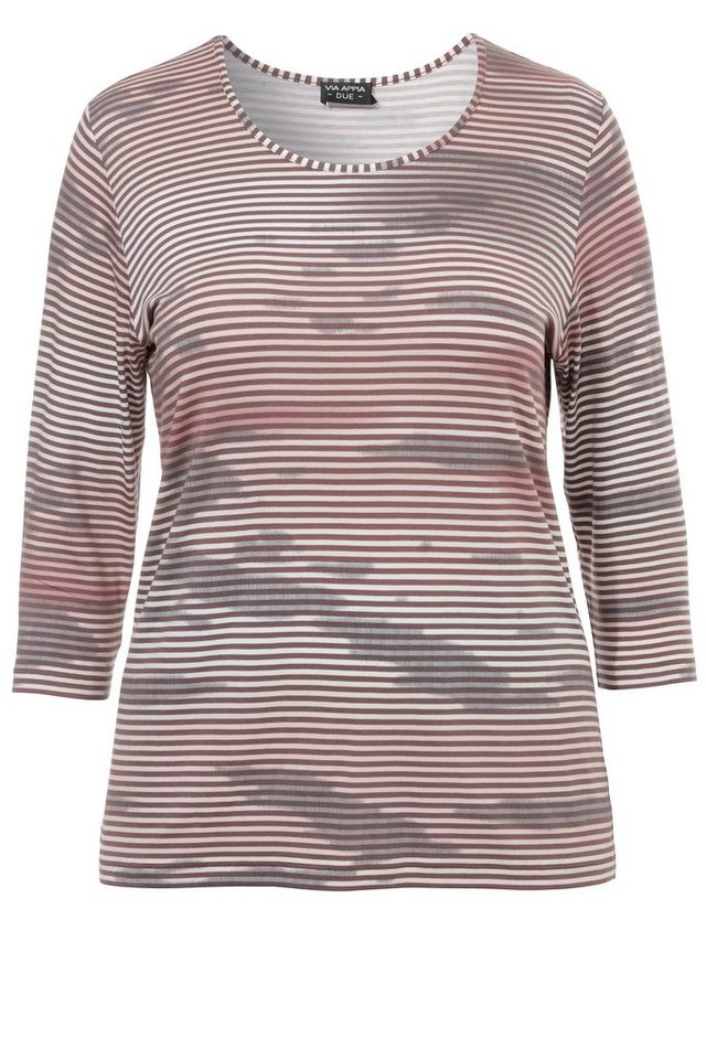 VIA APPIA DUE T-Shirt mit Streifen-Muster in ROSENHOLZ MULTICOLOR