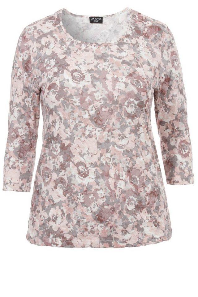 VIA APPIA DUE T-Shirt mit Blumen-Muster in ROSENHOLZ MULTICOLOR