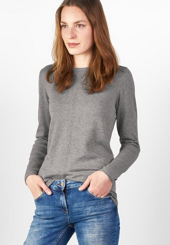 CECIL Basic-Style Pullover Alena in silver melange