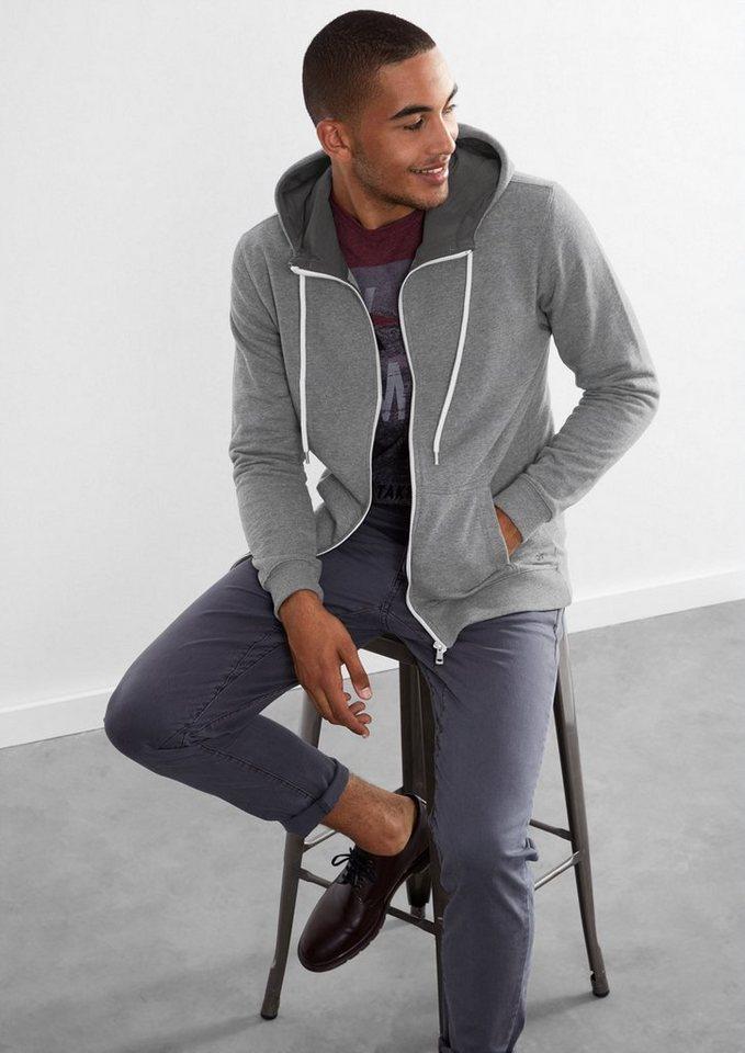 Q/S designed by Sweatjacke aus flauschigem Jersey in dark grey melange
