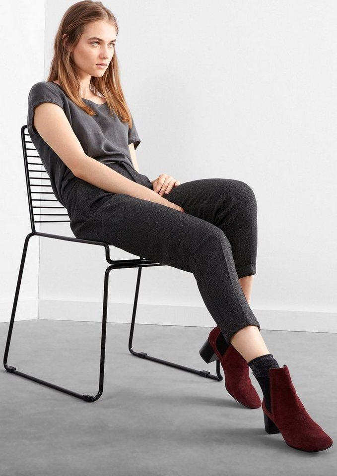 Q/S designed by Boyfriend: Hose im Business-Stil in dark grey