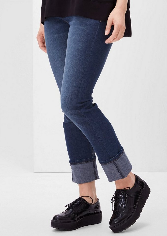 TRIANGLE Regular: Leichte Stretch-Jeans in ocean blue