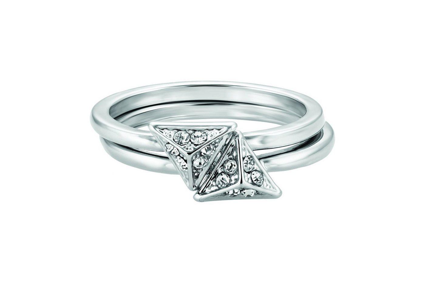 Buckley London Ring rhodiniert mit Kristallen - Preisvergleich