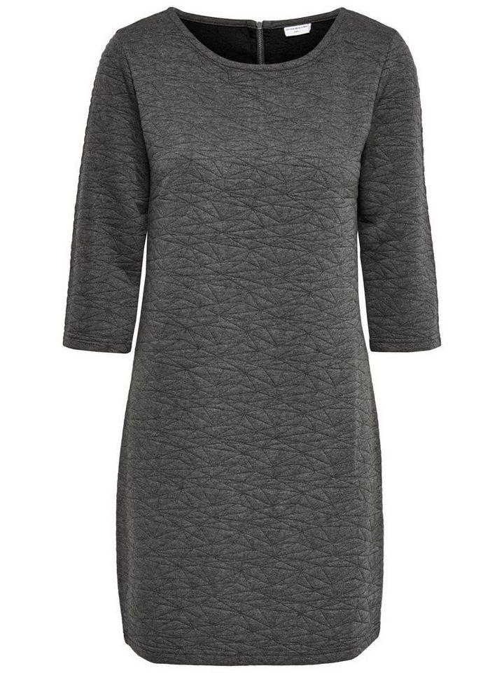 Only 3/4-ärmeliges Sweatkleid in Dark Grey Melange