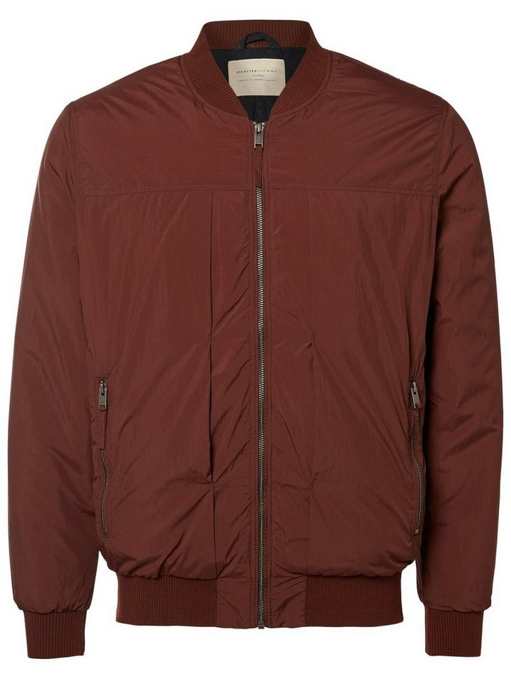 Selected Bomber- Jacke in Bitter Chocolate