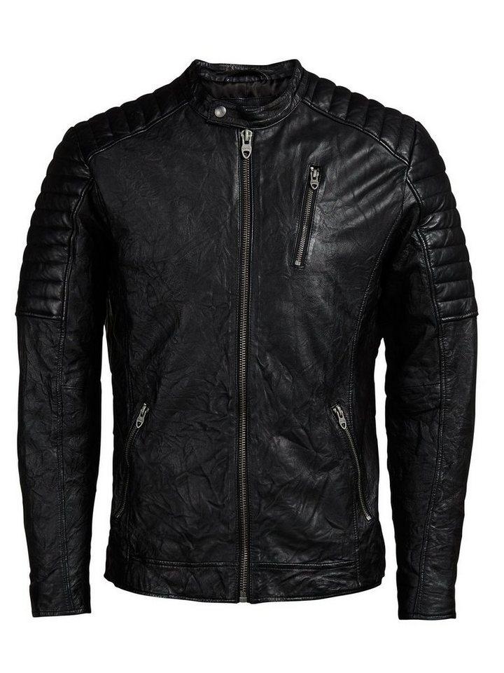 Jack & Jones Biker- Lederjacke in Black