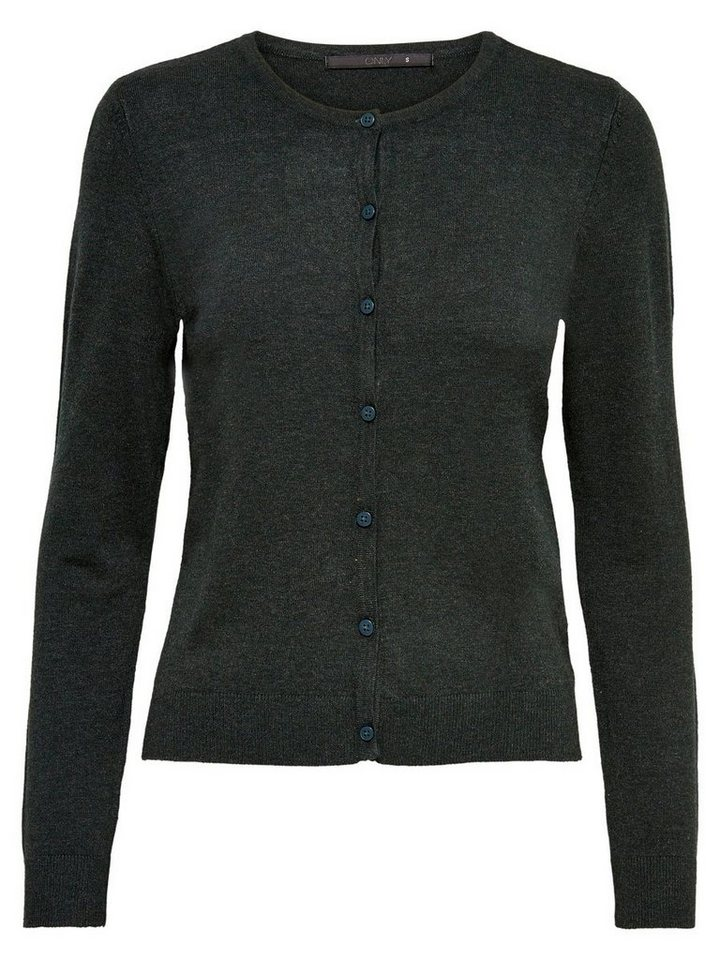 Only Basic- Strick-Cardigan in Scarab