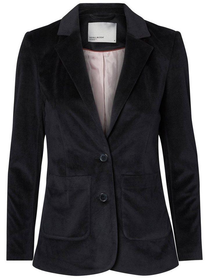 Vero Moda Samt- Blazer in Black