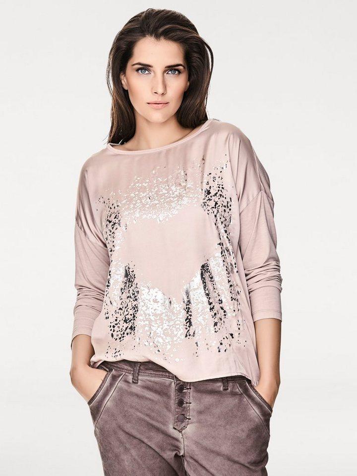 B.C. BEST CONNECTIONS by Heine Oversized-Shirt mit Metallic-Effekt in rosa