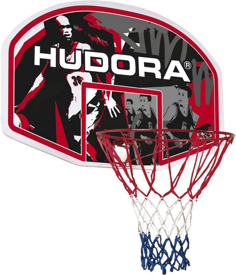 Hudora Basketballkorbset, In-/Outdoor in schwarz-rot-gelb-blau