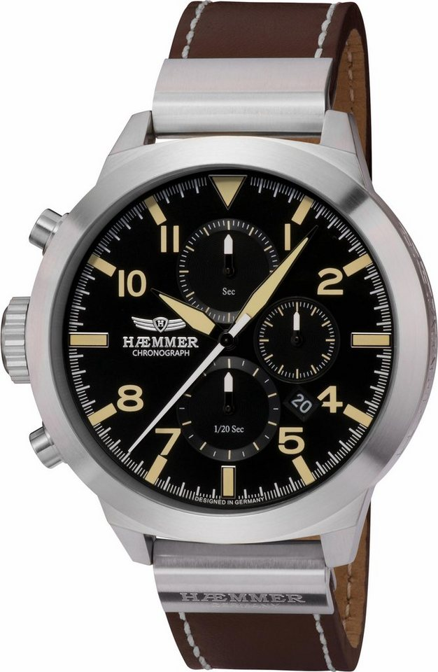 HAEMMER GERMANY Chronograph »PRUDENT, HF-03-D« in braun