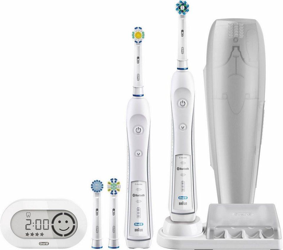 Oral-B Elektrische Zahnbürste PRO 6500, mit 2. Handstück & Bluetooth in weiß
