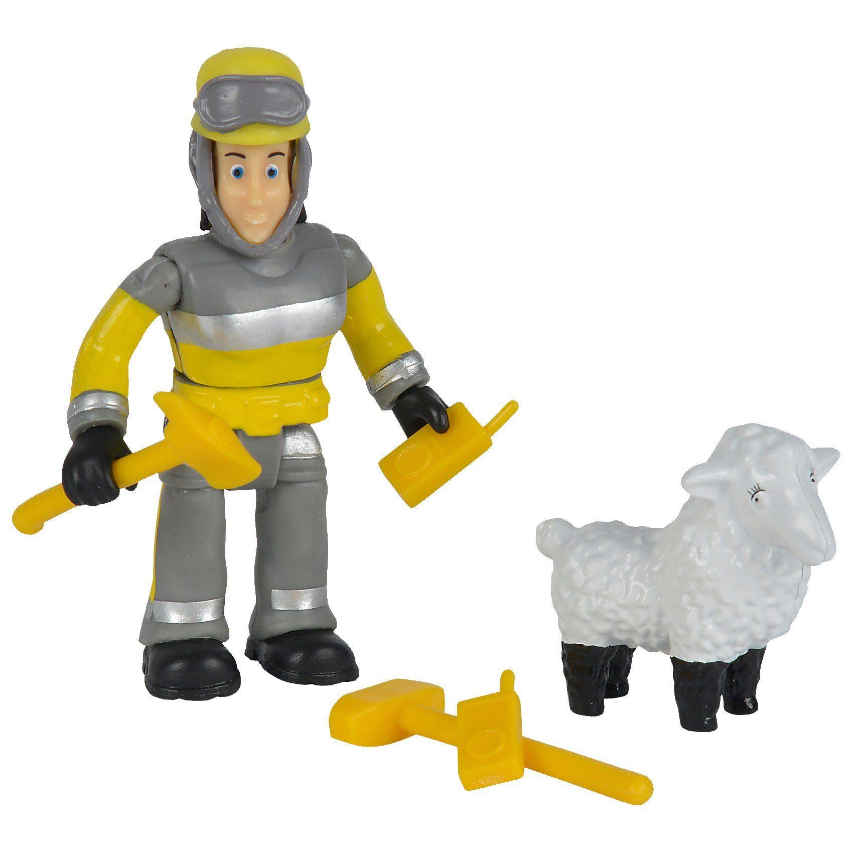 SIMBA Feuerwehrmann Sam - Tierrettung Figuren Set Elvis + Wolli