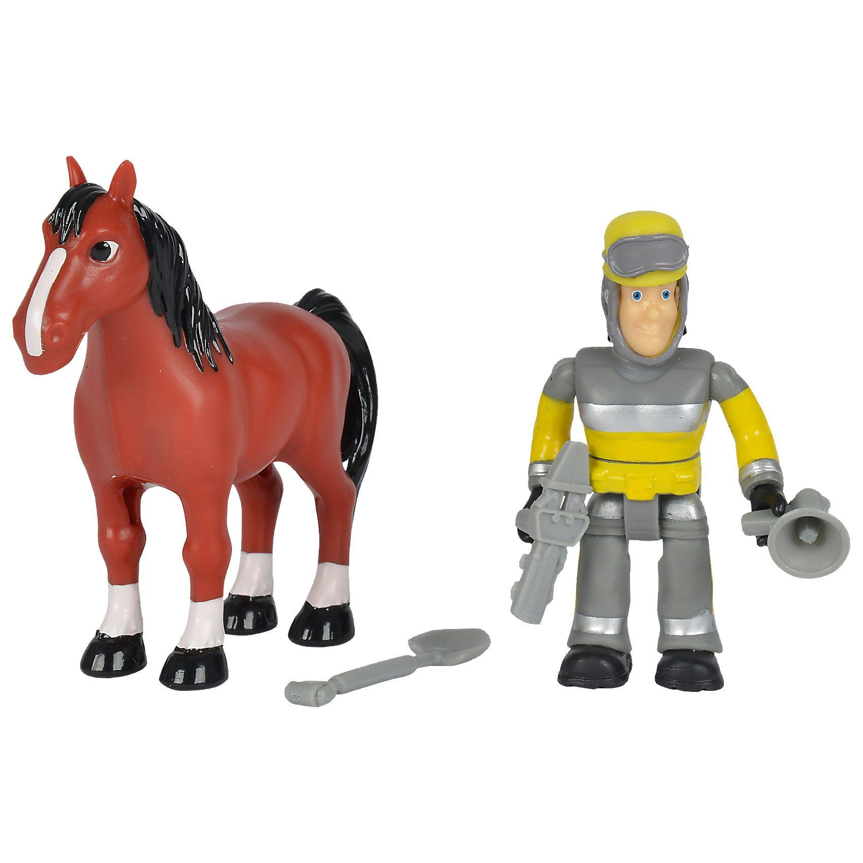 Simba Feuerwehrmann Sam - Tierrettung Figuren Set Sam + Pferd