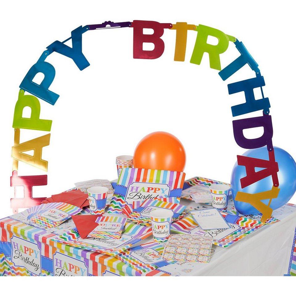 Amscan Partyset Bright Birthday, 65-tlg.