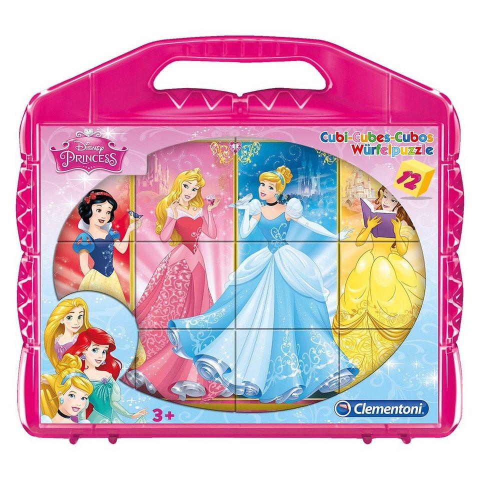 Clementoni Würfelpuzzle 12 Teile - Disney Princess