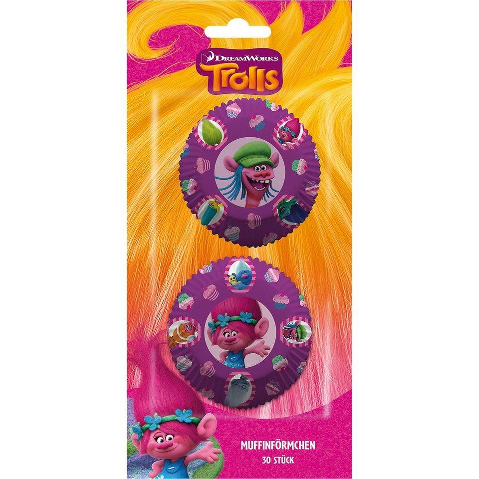 P:OS Muffinförmchen Trolls, 30 Stück