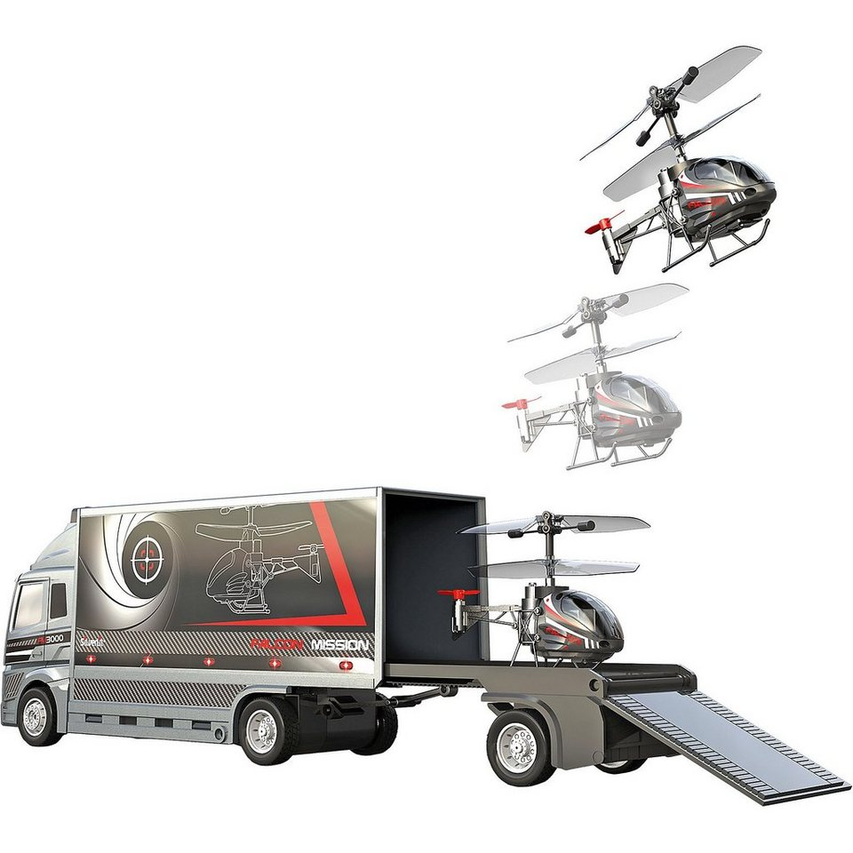 Silverlit IRC Helikopter/ Fahrzeug Falcon Mission