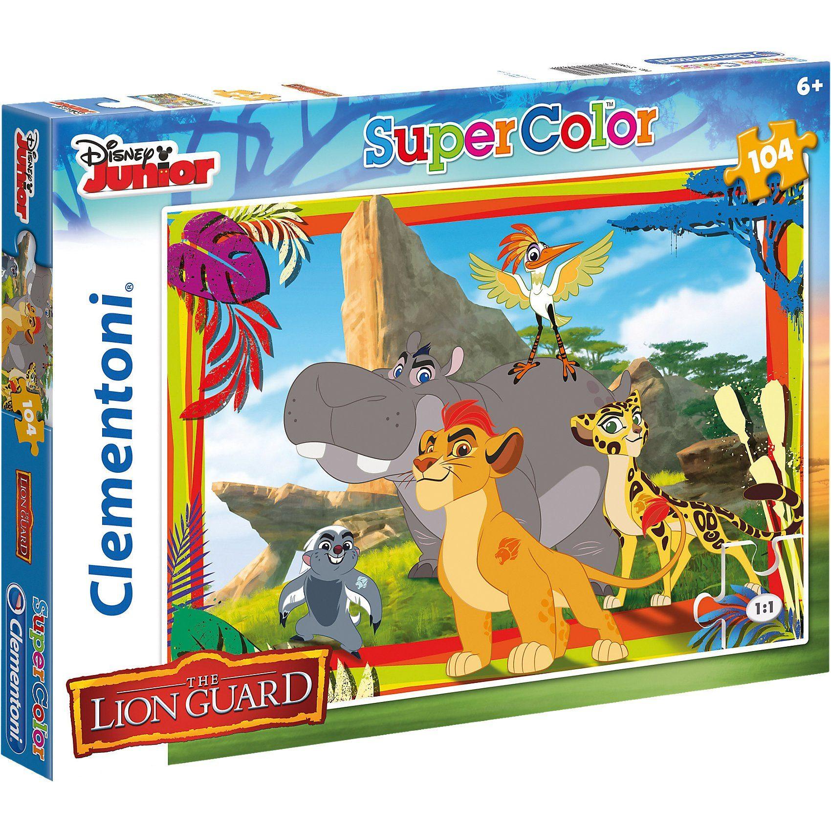Clementoni Puzzle 104 Teile - Die Garde der Löwen