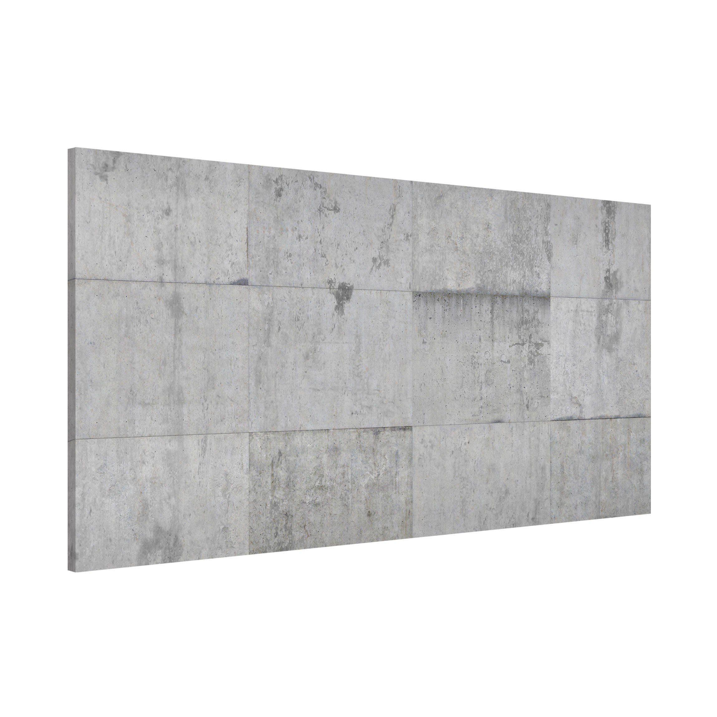 Bilderwelten Magnettafel Quer 37cm x 78cm »Beton Ziegeloptik grau«