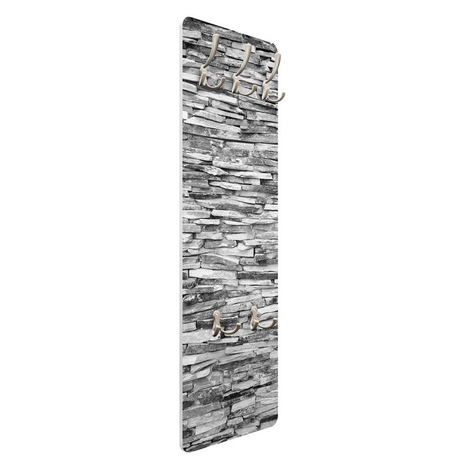 Bilderwelten Wandgarderobe 139x46x2cm »Arizona Stonewall« in Grau