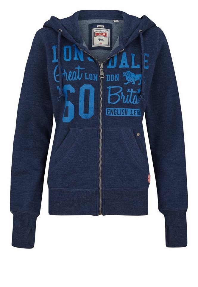Lonsdale Sweatjacke »STAPLECROSS« in Marl Navy