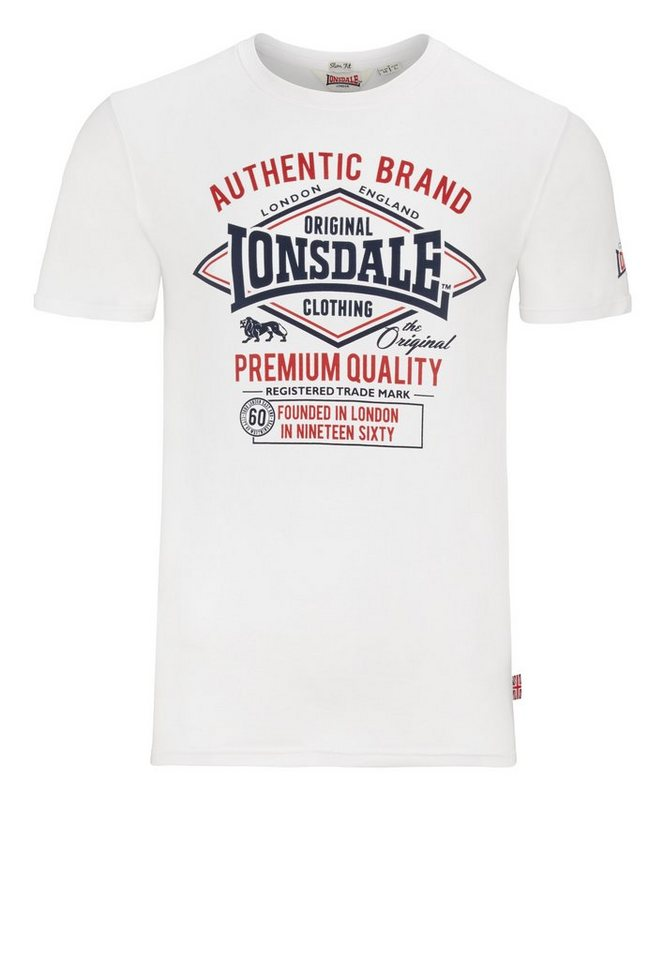Lonsdale T-Shirt »SWANLEY« in White