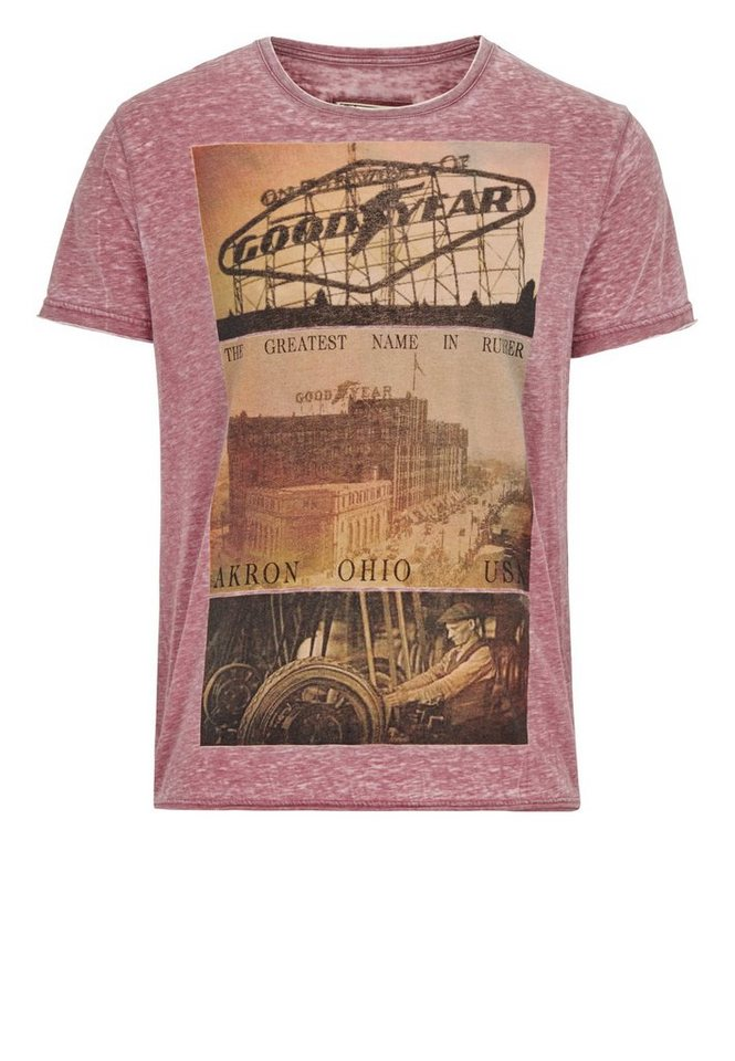 Goodyear T-Shirt »FREEPORT« in Wine Red